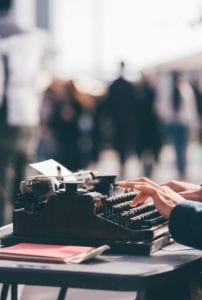 5 Ways to Earn an Income Online from Home - typewriter