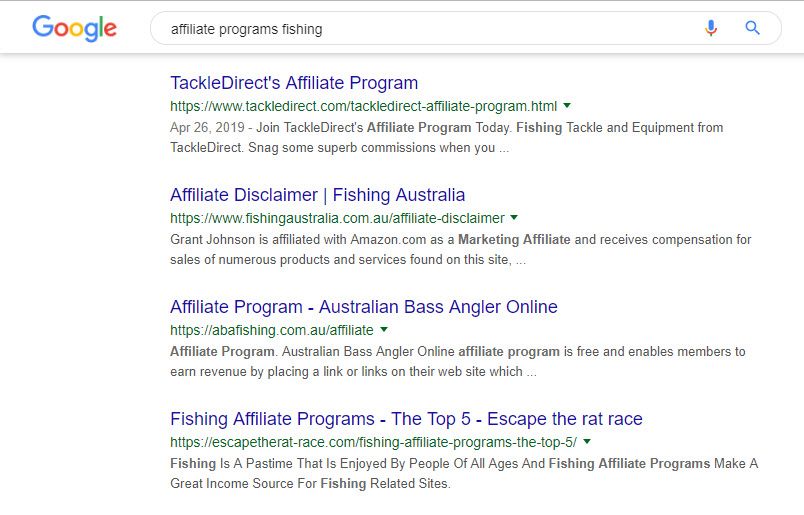 How to Find Affiliate Programs - fishing programs