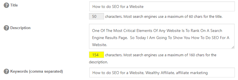 How to do SEO for a Website - meta title