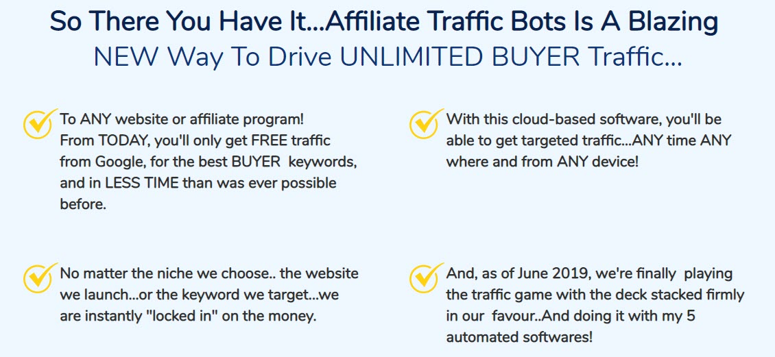 Affiliate Traffic Bots Review - promotions