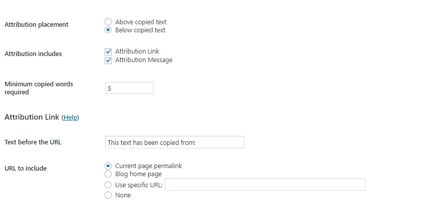 Covert Copy Traffic Review - settings