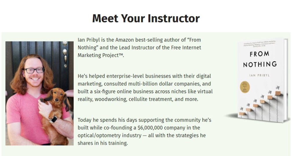 Free Internet Marketing Project (FIMP) Review - Ian bio