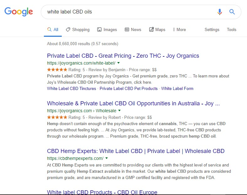 How to Make Money Selling CBD Oil Online - white labelling