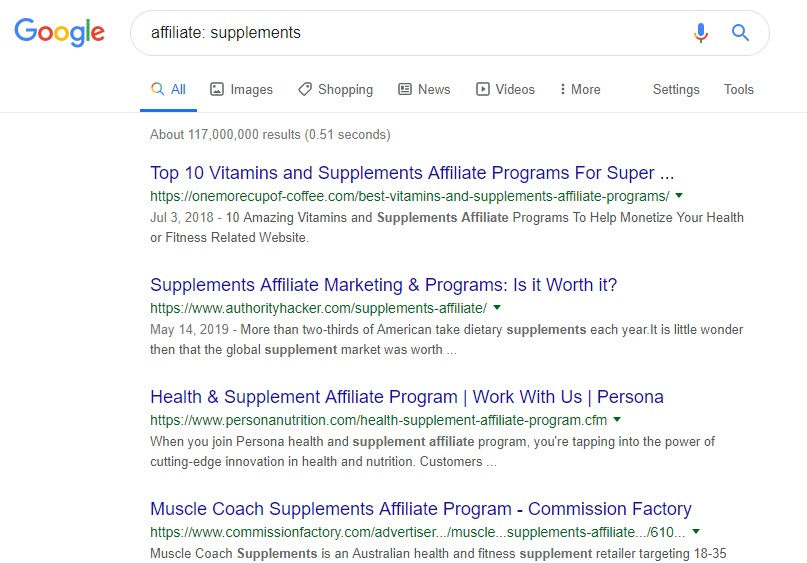 How to Make Money Selling Supplements Online - affiliate search