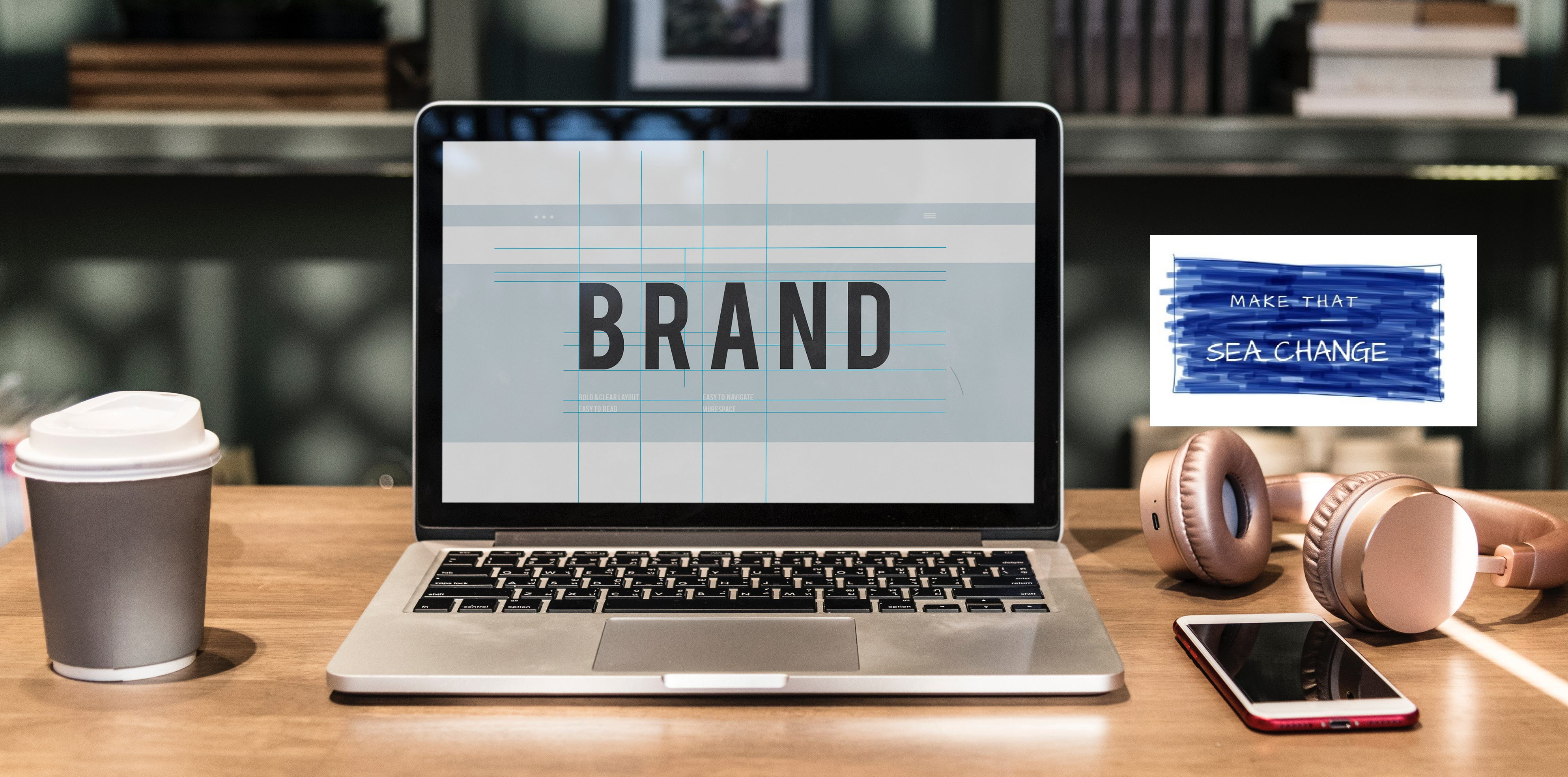 how to brand your website - header