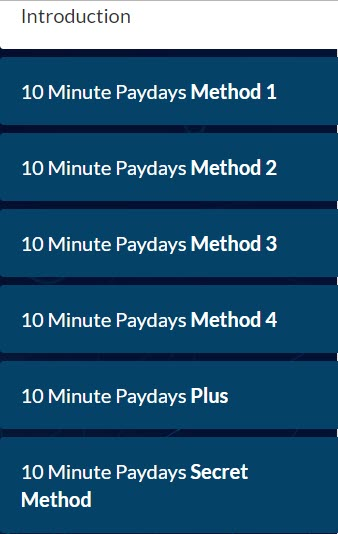 10 Minute Paydays Review - e-books