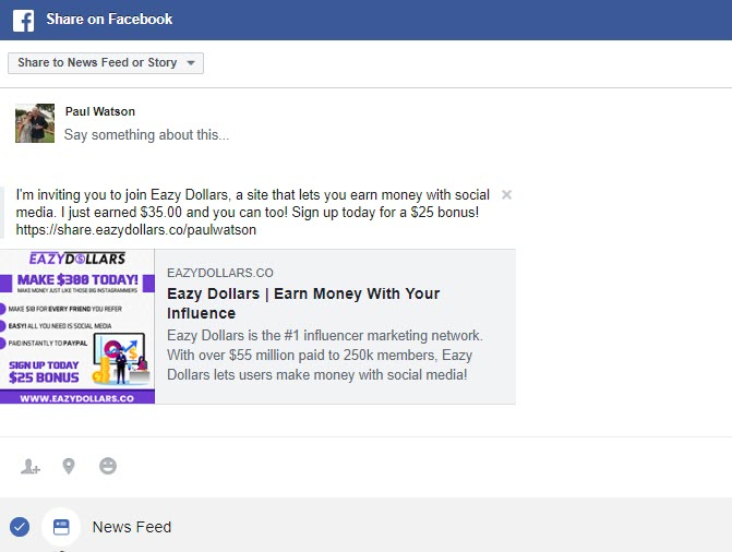 Can you Make Money online with Eazydollars - FB