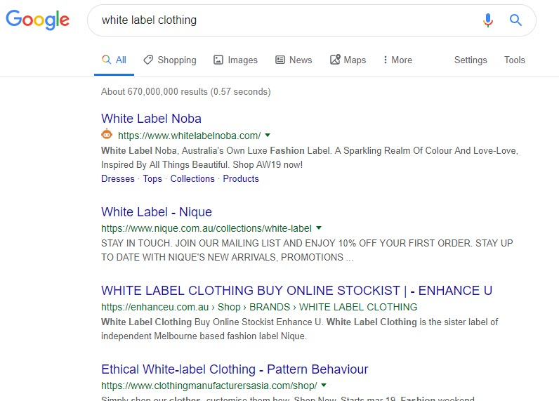 How to Make Money Selling Clothes Online - white label
