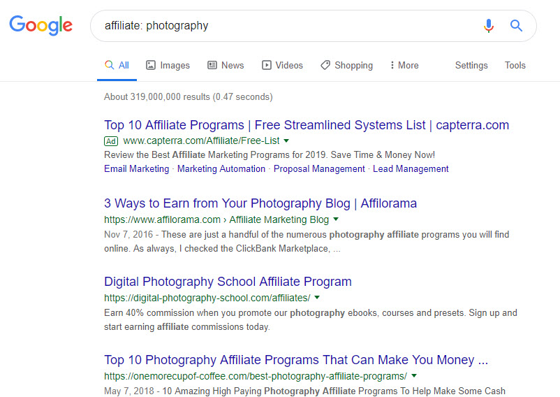 How to Make Money Selling Photographs Online - affiliate photography