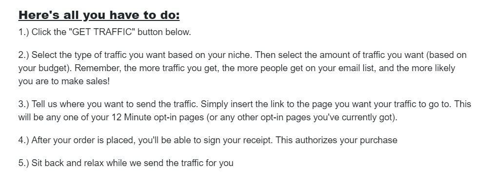 What is 12 Minute Affiliate - get traffic
