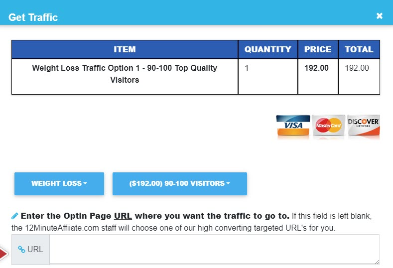 What is 12 Minute Affiliate - paid traffic