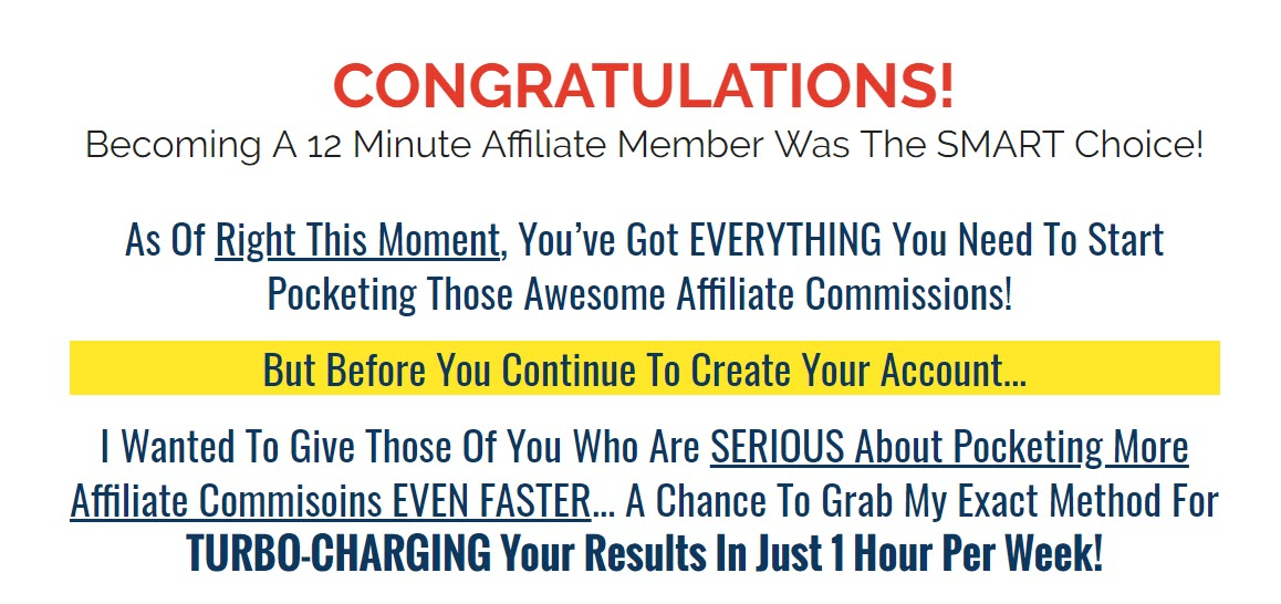 What is 12 Minute Affiliate - welcome
