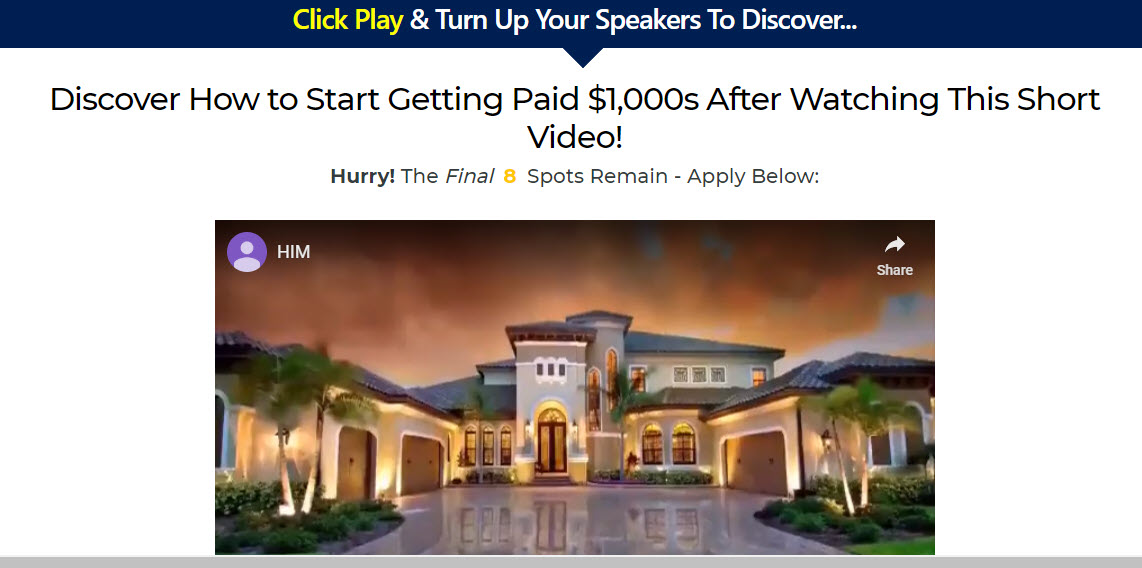 home income millionaire review - home page