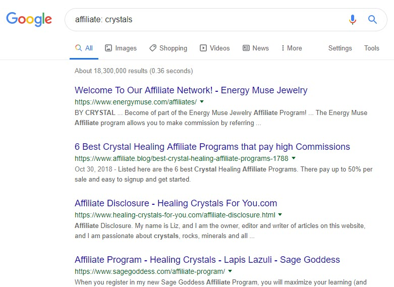 how to sell crystals online -affiliate