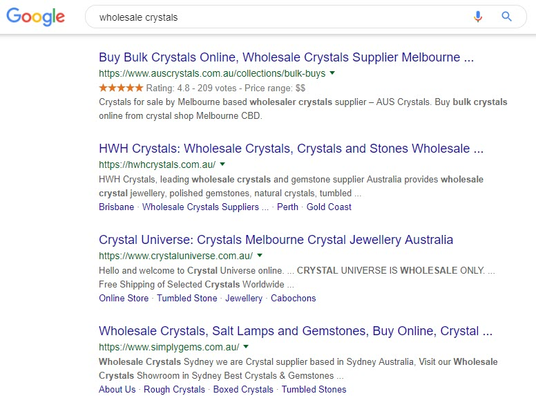 how to sell crystals online - wholesale