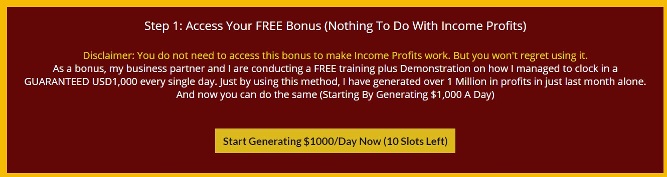 income profits review - free bonus