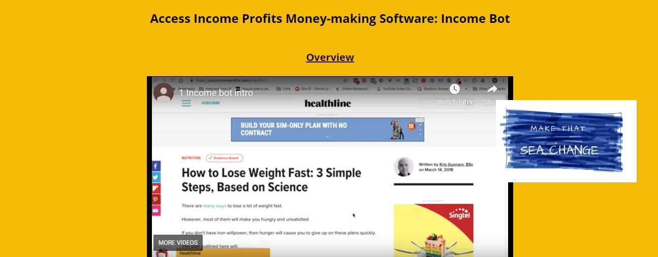 income profits review - header