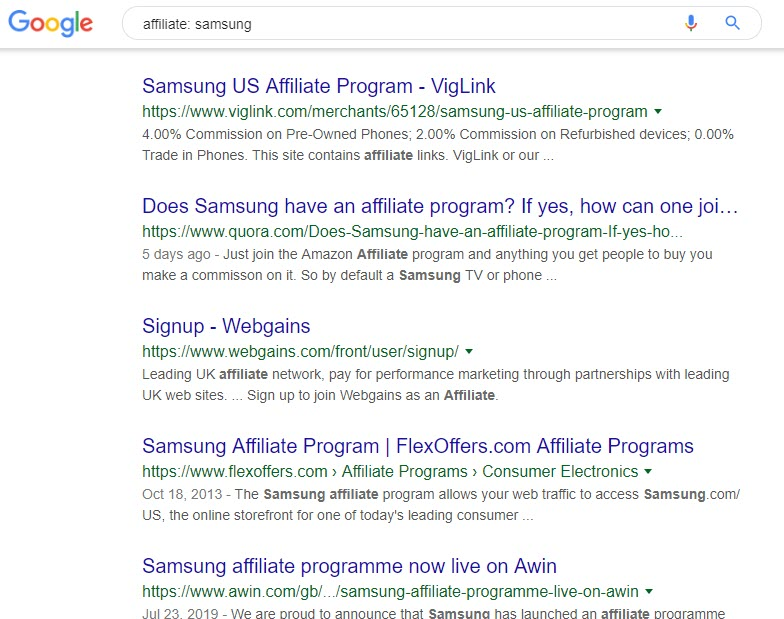 8 Electronics Affiliate Programs - samsung