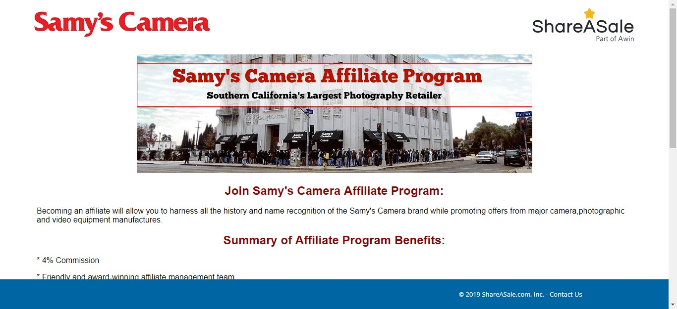 8 Electronics Affiliate Programs - samys affiliate