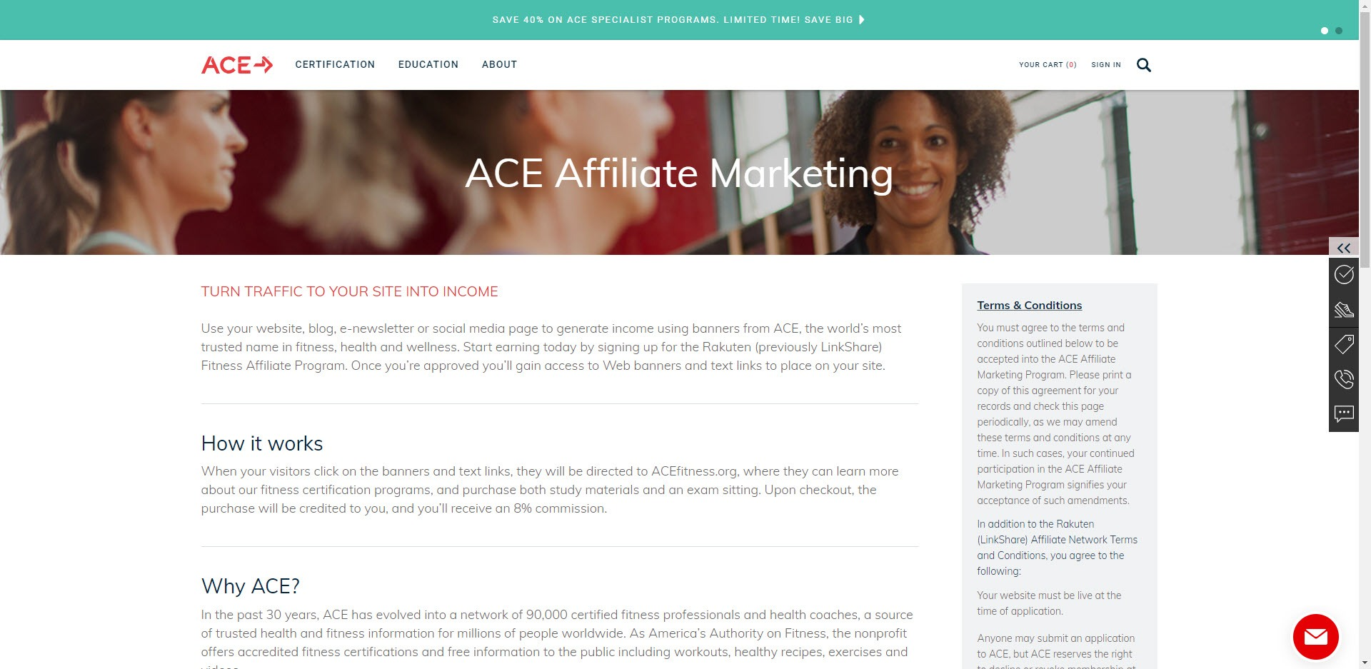Best Fitness Affiliate Programs 2019 - ace affiliate