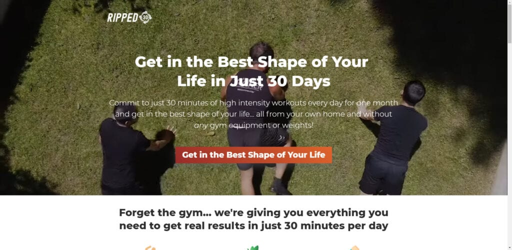 Best Fitness Affiliate Programs 2019 - ripped 30