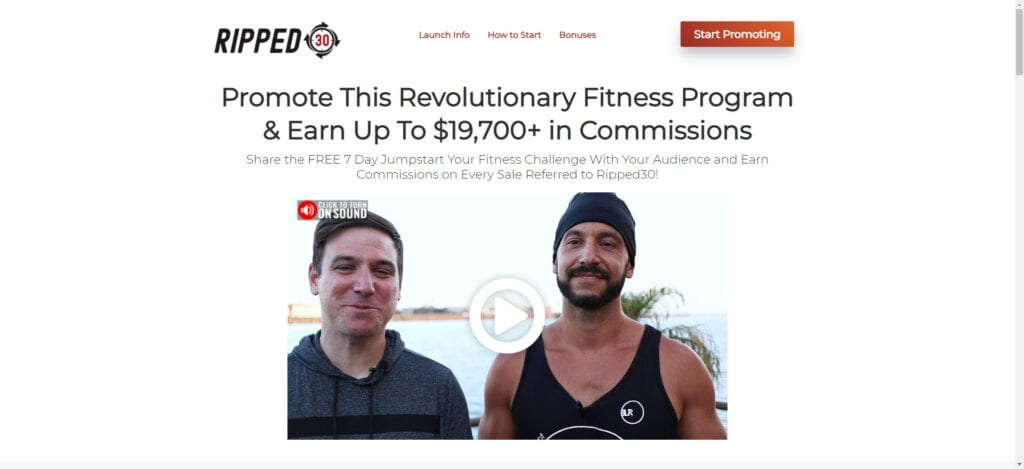 Best Fitness Affiliate Programs 2019 - ripped 30 affiliate
