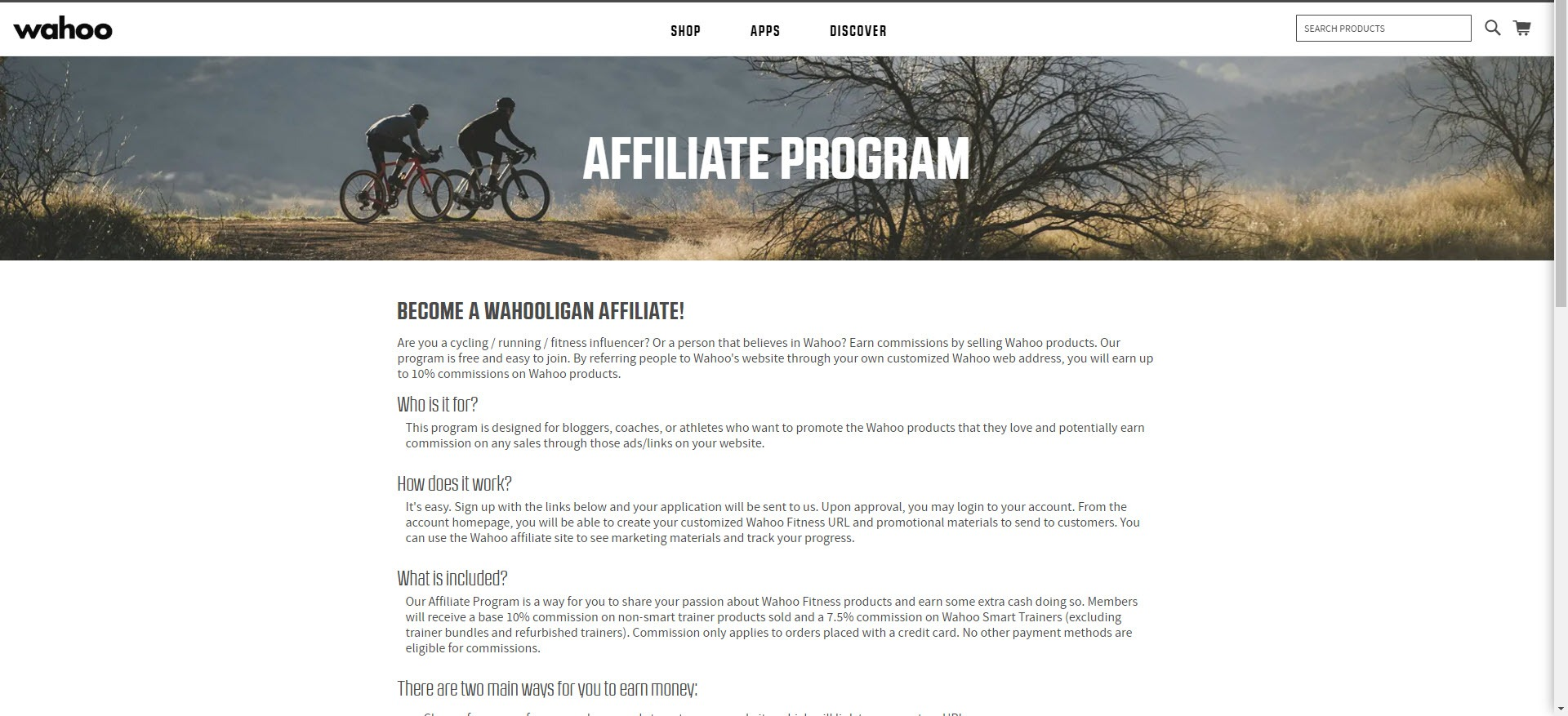 Best Fitness Affiliate Programs 2019 - wahoo affiliate