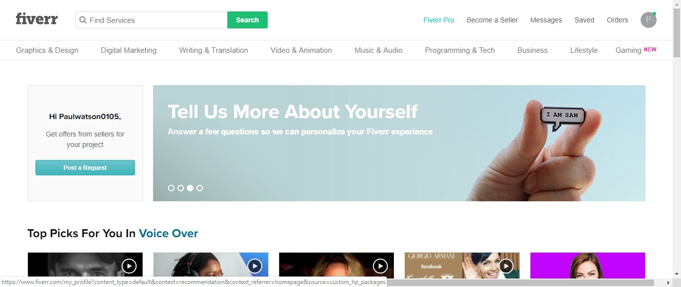 Can you Make Money with Fiverr - member page