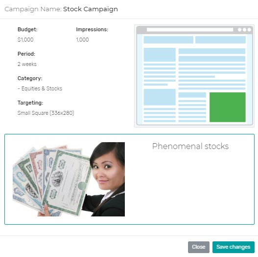 Click2sell review - campaign finish
