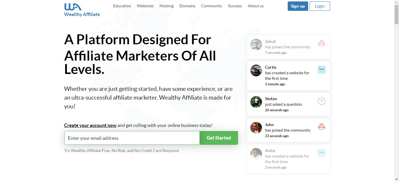 Free Affiliate Marketing Training Programs - WA Front page