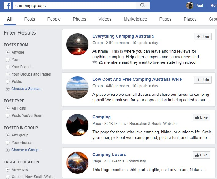 How to Sell Camping Gear - FB