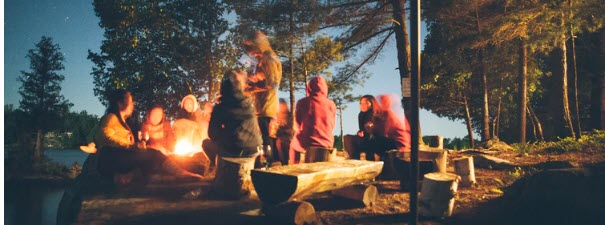How to Sell Camping Gear - camp fire