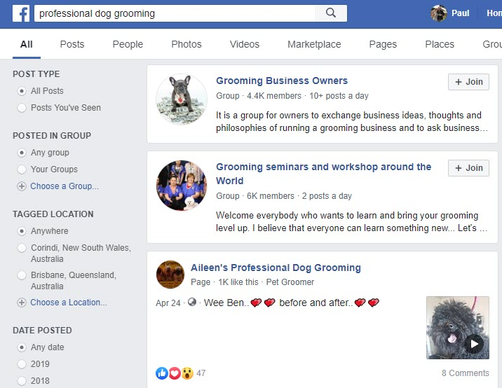 How to Sell Pet Supplies Online - grooming FB group