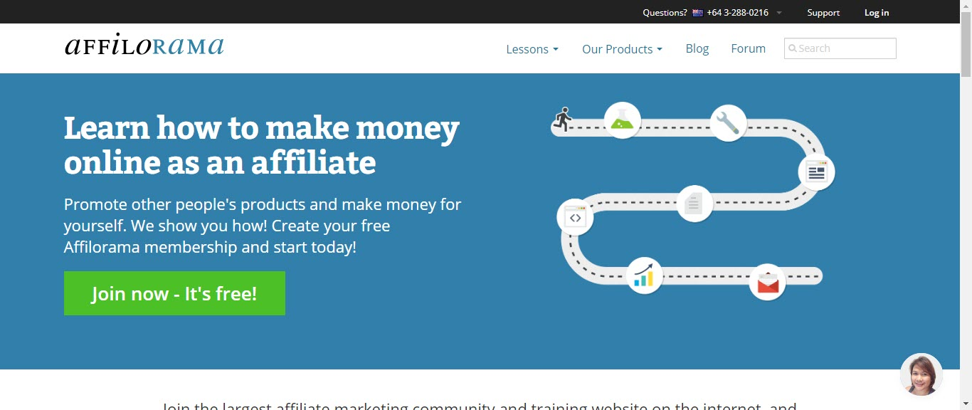 Is Affilorama Affiliate Marketing - front page