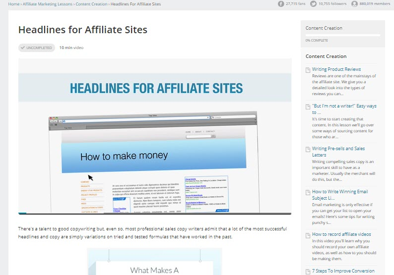 Is Affilorama Affiliate Marketing - inside course