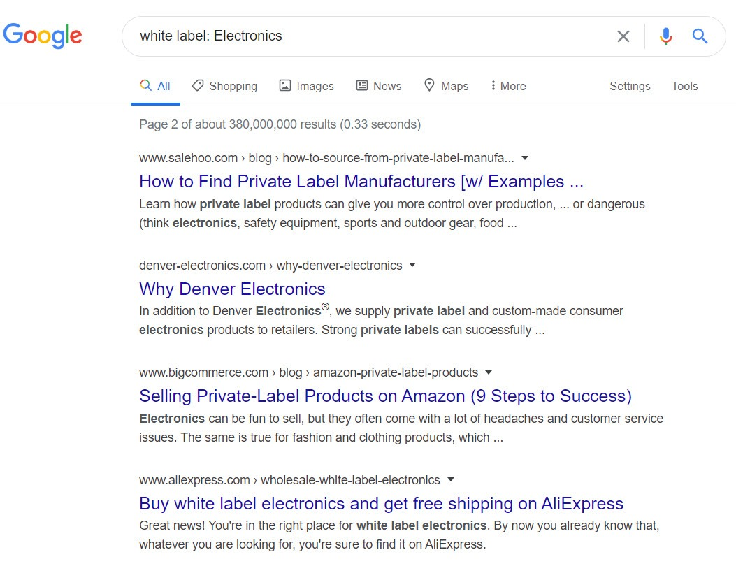 sell electronics online - white label