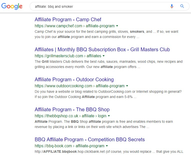 BBQ and Smoker Affiliate Programs - BBQ smoker affiliate