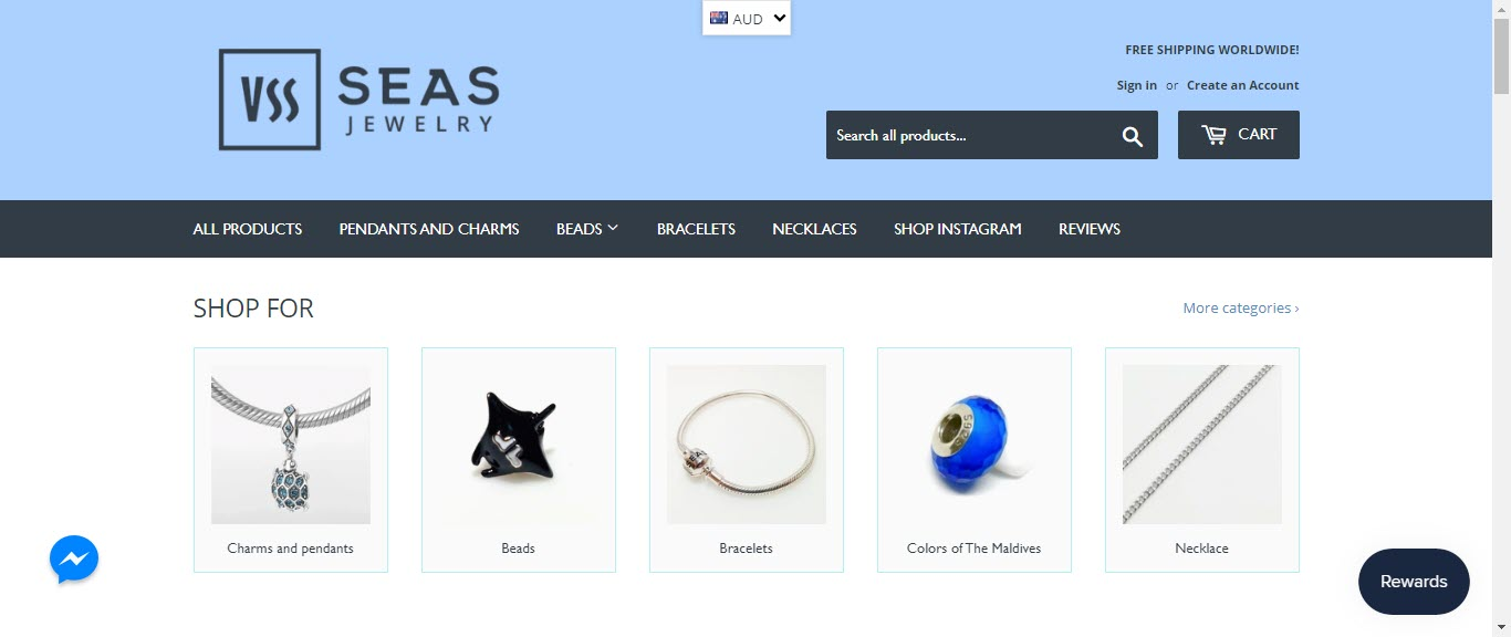 Best Jewelry Affiliate Programs - 7 seas jewellry