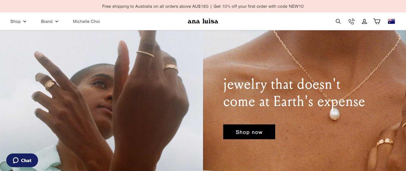 Best Jewelry Affiliate Programs - ana luisa