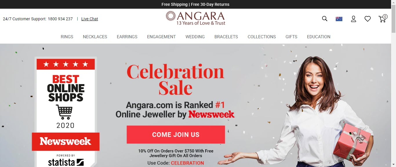Best Jewelry Affiliate Programs - angara