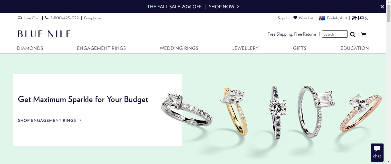 Best Jewelry Affiliate Programs - blue nile