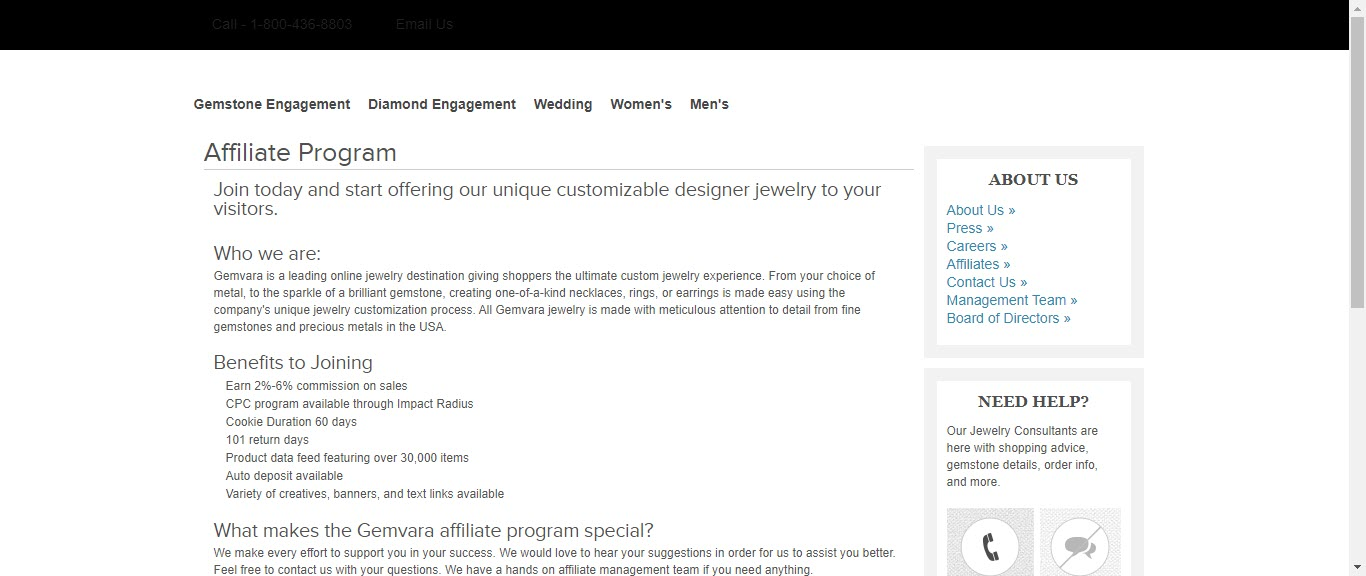 Best Jewelry Affiliate Programs - gemvara affiliate