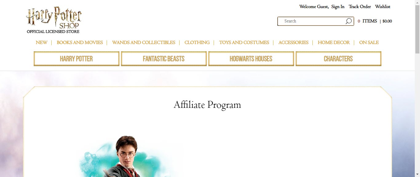 Best Jewelry Affiliate Programs - harry potter affiliate