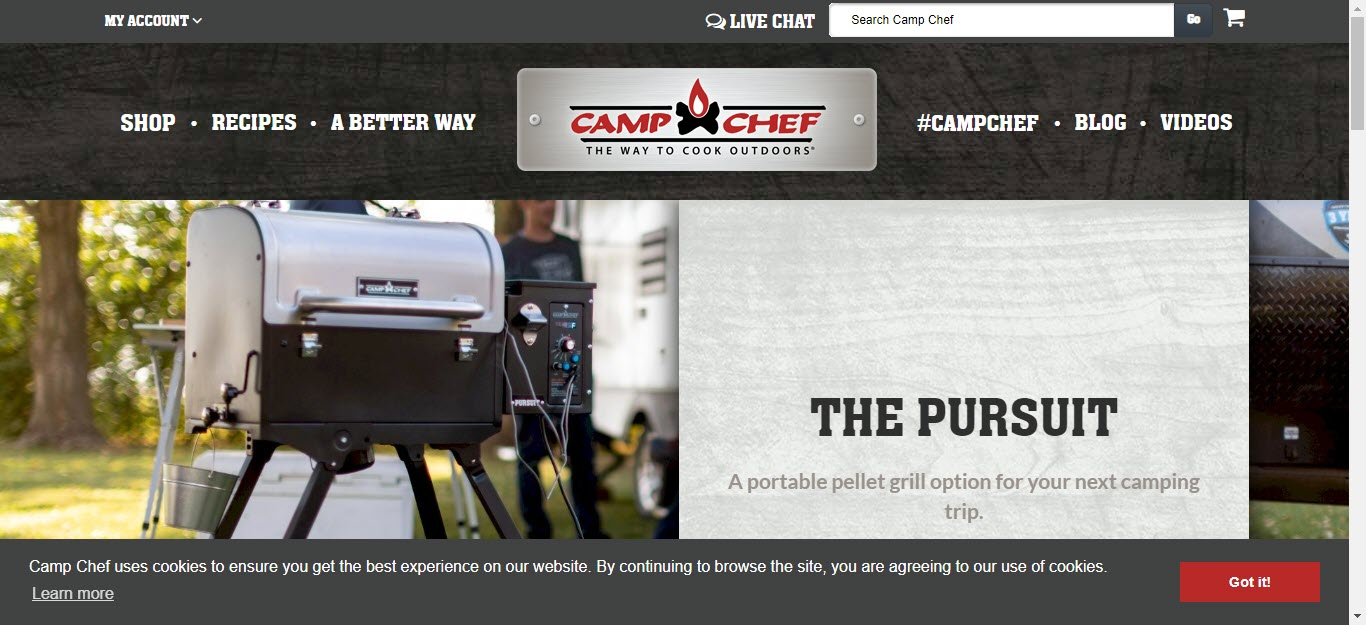 Camping Affiliate Programs - camp chef