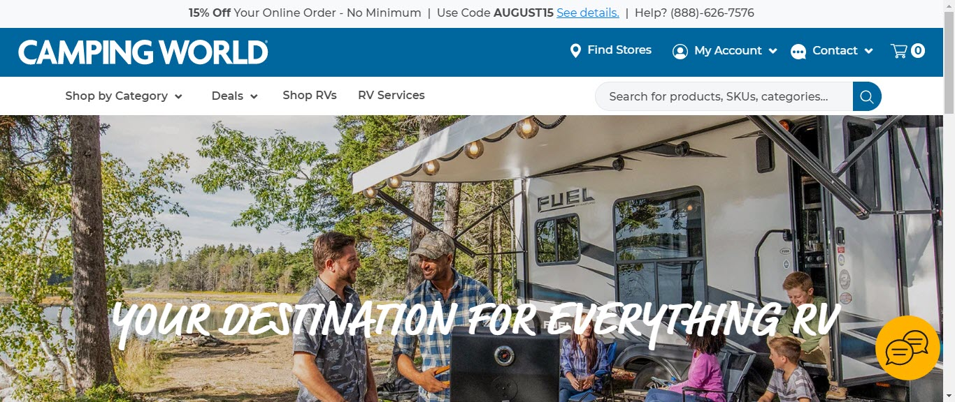 Camping Affiliate Programs - camping world