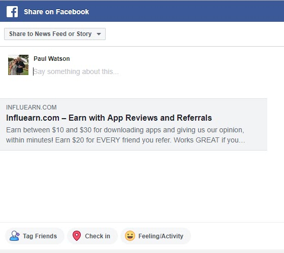 Earn Money Online with Influearn - FB