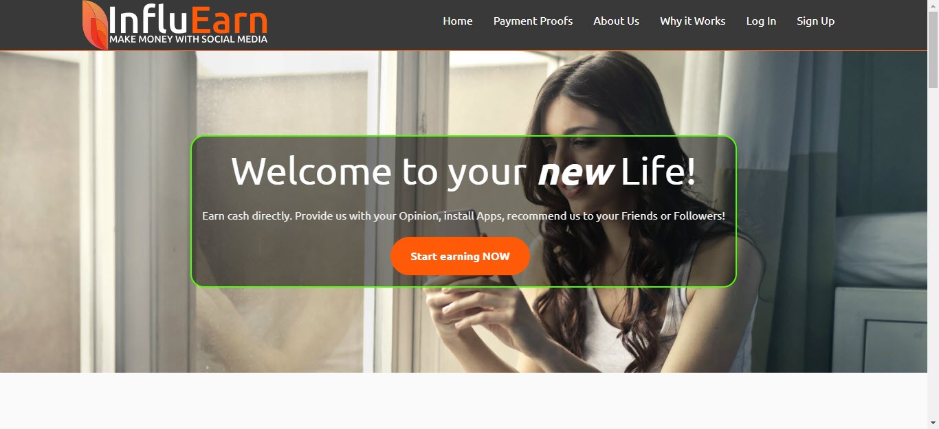Earn Money Online with Influearn - home