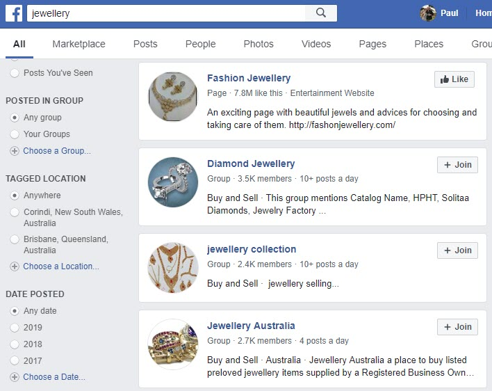 How to Sell Jewellery Online - jewellery FB
