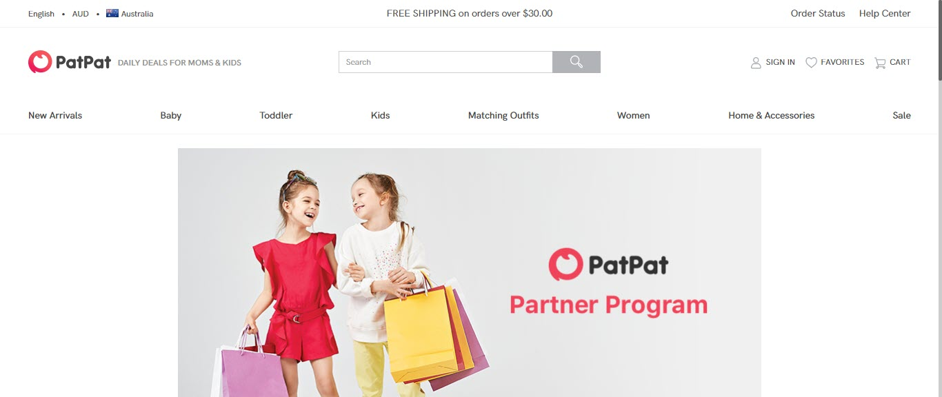 Baby Product Affiliate Programs - Pat Pat affiliate