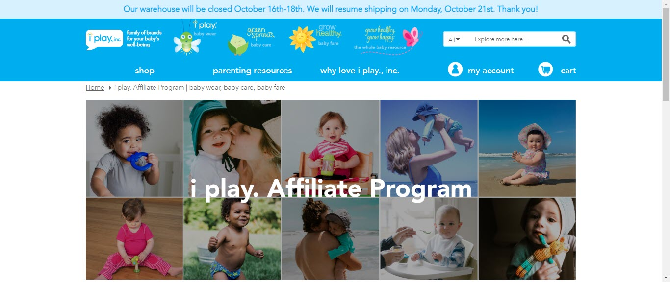 Baby Product Affiliate Programs - iplay affiliate